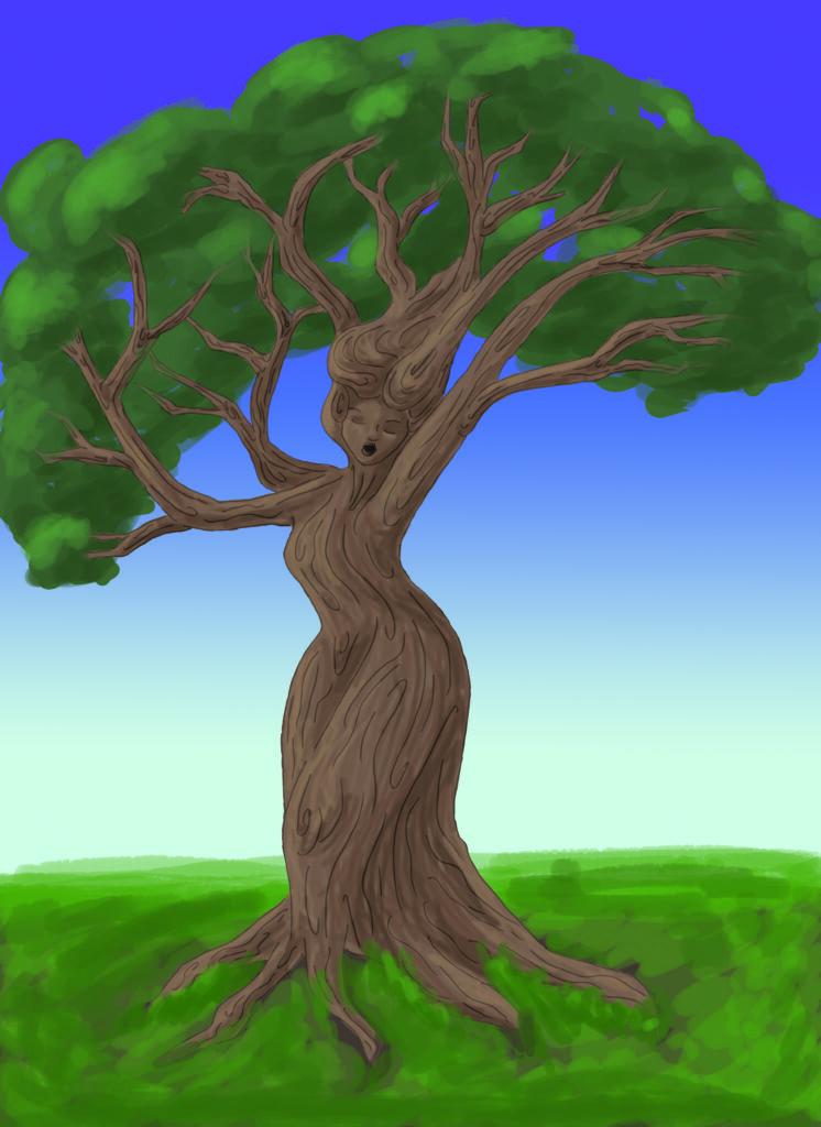 Illustration of Gaia as Tree