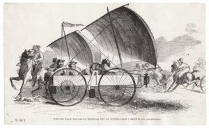 An illustration of Sam Peppard's Wind Wagon.